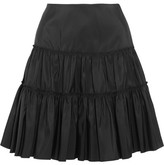 Giambattista Valli Gathered Silk-taffeta Mini Skirt - Black