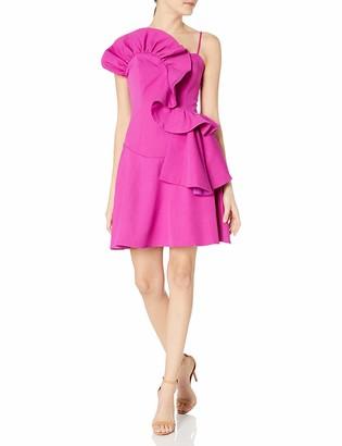 Elliatt Women's Apparel Women's Flora Cascading Ruffle Short Party Dress
