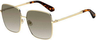 Kate Spade Fentongs Square Stainless Steel Sunglasses