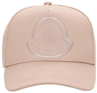 Moncler Logo Cotton Baseball Cap
