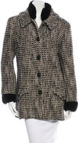 Chanel Fur-Trimmed Tweed Coat