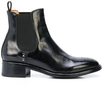 Officine Creative Punch Hole Ankle Boots