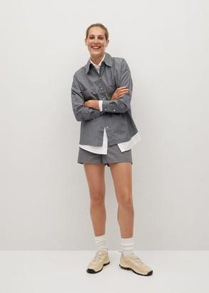 MANGO Cotton drawstring waist shorts