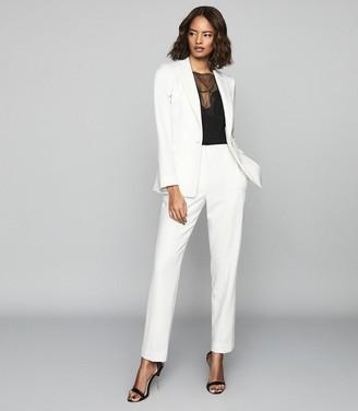 Reiss LEIGH Wool Blend Tuxedo Blazer White