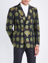 Alexander McQueen Regular-fit peacock jacquard jacket