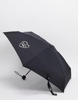 Moschino super mini umbrella in black