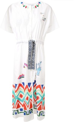 Mira Mikati Geo Tribal printed drawstring dress