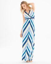 Soma Intimates Surplice Tank Maxi Dress Valencia Stripe