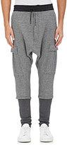 Nlst Men's Cotton Cargo Harem Sweatpants-Grey, Dark Grey Size M