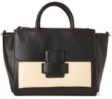 Mondani Black & Ivory Allie Top Handle Satchel