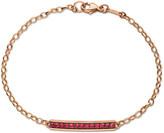 Monica Rich Kosann Rose Gold Poesy Bracelet w/ Rubies
