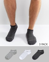Pringle Sneaker Socks In 3 Pack With Stripe