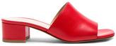 Maryam Nassir Zadeh Leather Sophie Slides in Red.