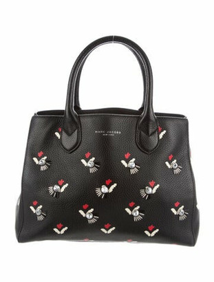 Marc Jacobs Embellished Tulip Collection Tote Black