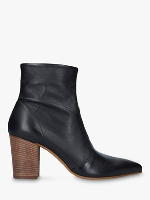 Carvela Sculpture Leather Pointed Toe Ankle Boots