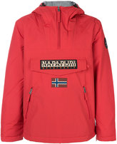 Napapijri logo patch pull-over jacket