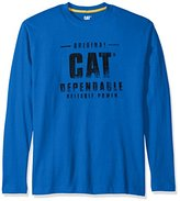 Caterpillar Men's Distressed Long Sleeve T-shirt