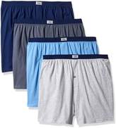 Fruit of the Loom Men's 4-Pack Knit Boxer Extended Sizes