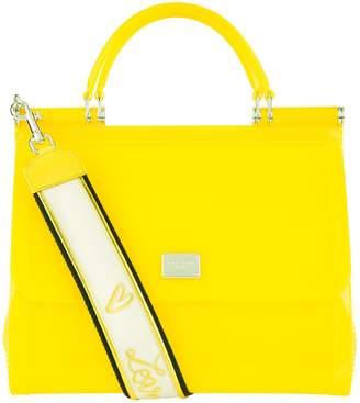 Dolce & Gabbana Rubber Sicily Top Handle Bag