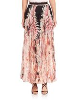 Roberto Cavalli Pleated Silk Chiffon Skirt