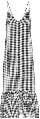 KHAITE Exclusive to Mytheresa Stacey gingham midi slip dress