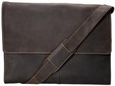 Visconti Brown Distressed Leather Messenger Bag