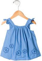 Jacadi Girls' Embroidered Sleeveless Top