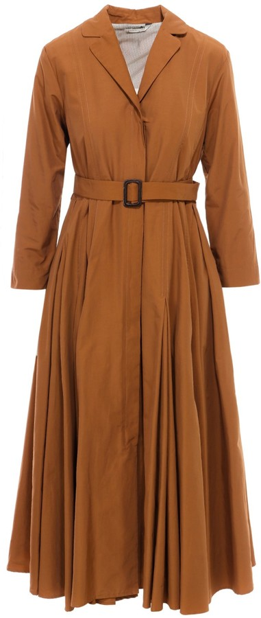 Max Mara 'S Belted Pleated Dress