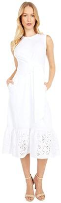 Parker Sol Combo Dress (Ivory) Women's Dress