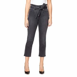 Gloria Vanderbilt Women's Misses Paperbag Straight Leg Cropped Jean