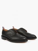 Thom Browne Black Pebblegrain Leather Brogues