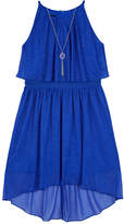 BY AND BY GIRL Byer Cobalt Sparkle Halter Popover Dress - Girls 7-16