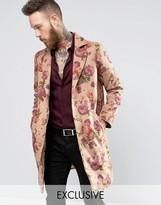 Reclaimed Vintage Reclaimed Overcoat In Floral Print