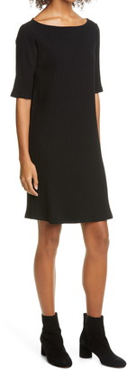 Eileen Fisher Ribbed Knit Shift Dress