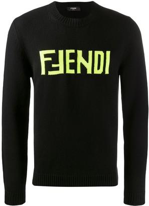 Fendi FF logo embroidered jumper