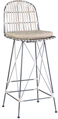 East At Main Set Of 2 Dover Rattan Barstools