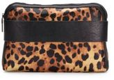 French Connection Dream Boat Leopard-Print Zip Clutch