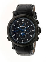 Heritor Kingsley Mens Black Strap Watch-Herhr4806