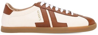 Lanvin 10mm Canvas & Leather Low Top Sneakers