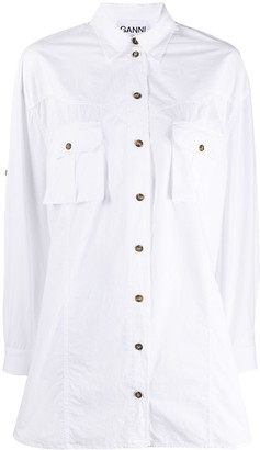 Ganni Combat Button-Up Shirt