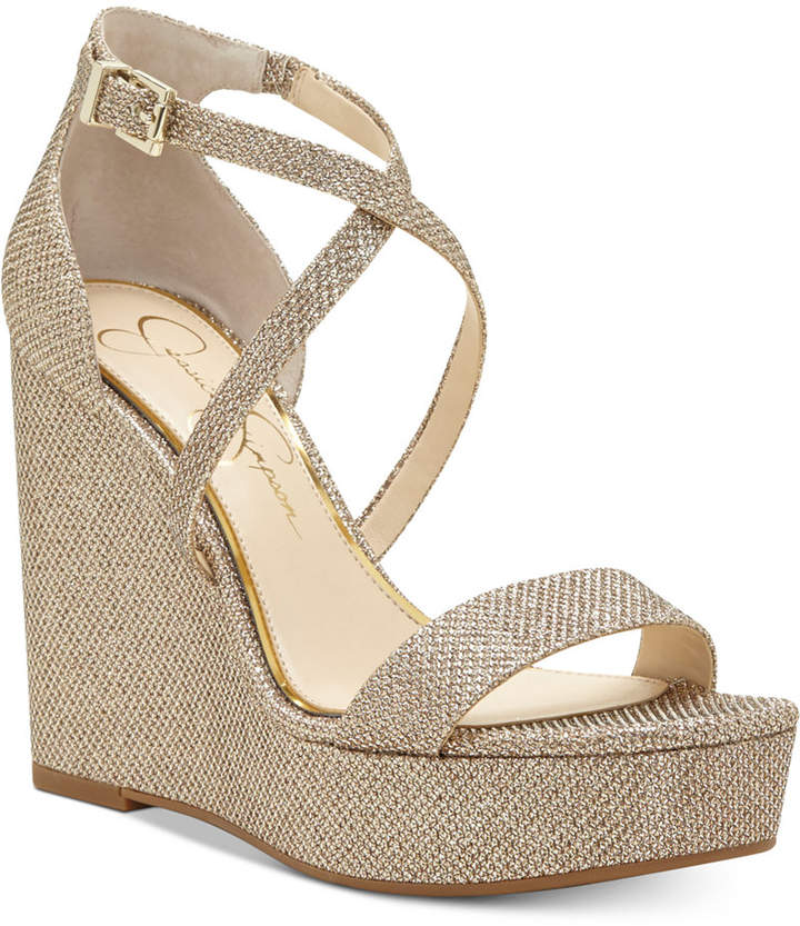 Jessica Simpson Samira Strappy Wedge Sandals Women Shoes