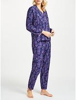 Cyberjammies Sadie Floral Print Pyjama Set, Blue
