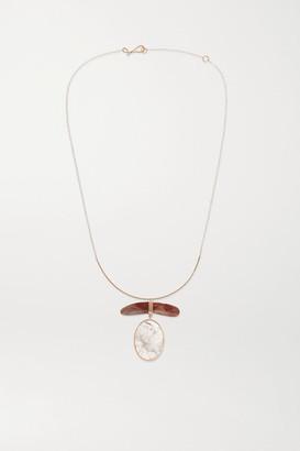 Melissa Joy Manning + Net Sustain 14-karat Gold, Rose Quartz And Jasper Necklace - one size