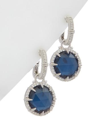 Judith Ripka Eclipse Silver 26.27 Ct. Tw. Gemstone Doublet Earrings