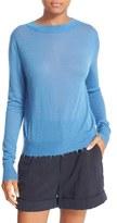 Vince Women's Distressed Trim Cashmere Top