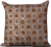 Nourison Mina Victory Luminecence Sequin Circles Wool Throw Pillow