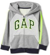 Logo colorblock zip hoodie