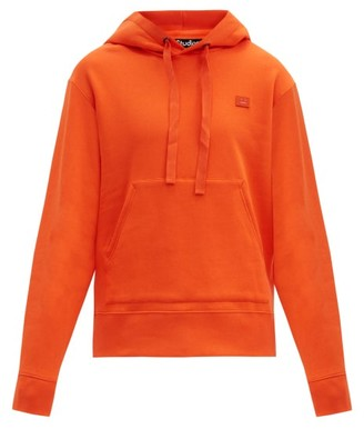 Acne Studios Ferris Face Cotton Hooded Sweatshirt - Orange
