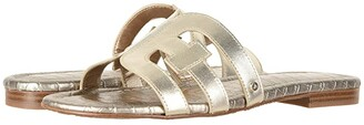 Sam Edelman Bay (Black Vaquero Saddle Leather) Women's Slide Shoes