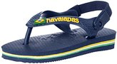 Havaianas Baby Brazil Logo Sandal Green Flip Flop with Backstrap